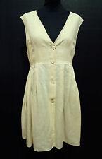 SPORTMAX Abito Vestito Donna Lino Flax Woman Dress Sz.L - 46
