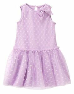 ceeadf8f27eaf NWT Gymboree Tulle Bow Dots Dress 18 24mo Lavender Bunny Toddler ...