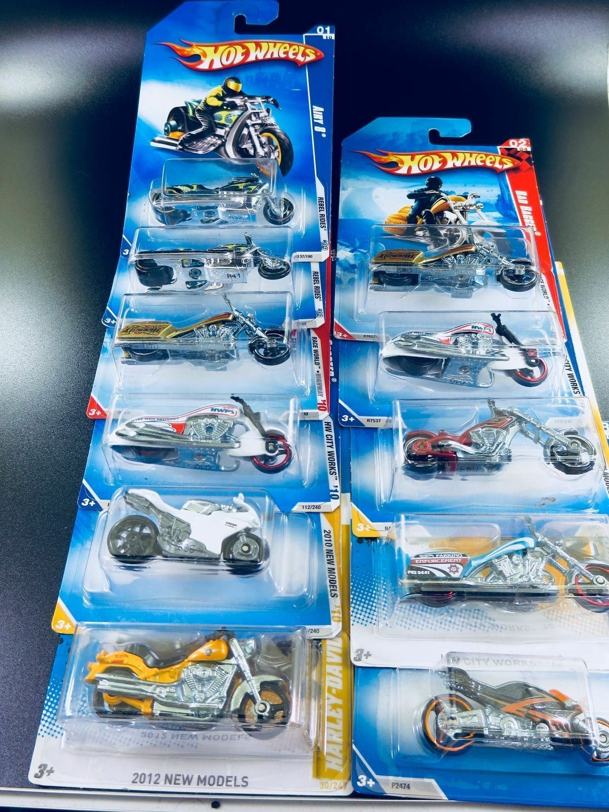 Hot Wheels MotorCycle lot Of 11 Plus Extra Surprise. You Won't Be Disappointed
