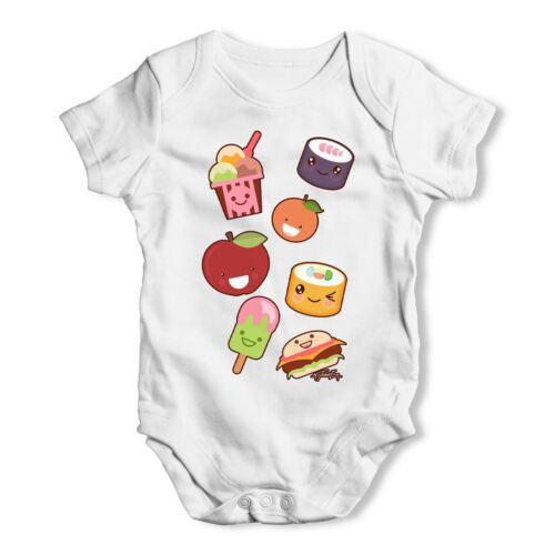 Kawaii Japanese Sweets /& Treats Emoji Baby Unisex Funny Baby Grow Bodysuit