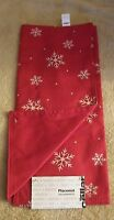 The Cellar Placemat Salvamantal Red Snowflake Holiday 10 X 10 Whitered