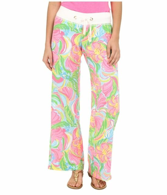 c31e2eb2c9 Lilly Pulitzer Womens Multicolor so a Peeling Linen Beach Pant Sz XS ...