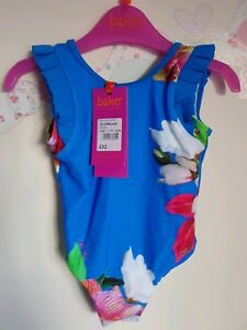 96f651cba1481 Ted Baker girls blue floral Swim Suit / swimwear. 18-24 Months ...