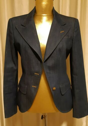 Dolce & Gabbana Fitted Denim Blazer 2000's size 4