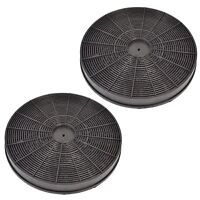 2 x Carbon Charcoal Filter for Cooker Hood, 233 x 30mm Baumatic Indesit Hotpoint