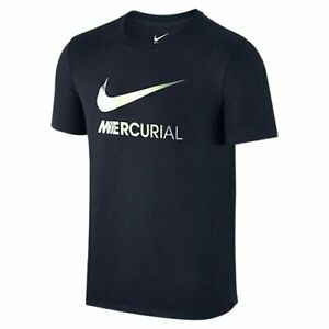 Da-Uomo-Nike-Swoosh-MERCURIAL-Gym-FOOTBALL-SPORT-T-SHIRT-nuovo-con-etichetta-M