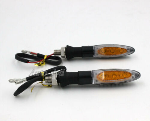4pc Motorcycle Light Turn Signals Rear Indicators Blinker Amber Fit For BMW Moto