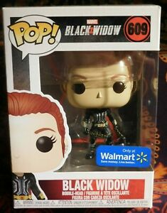 Funko POP MARVEL Walmart Exclusive BLACK WIDOW (Gray Suit) #609 Free Shipping
