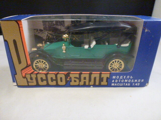 Vintage Russian Boxed Russo Balt Green 1 43 C24 40 1912 new in box