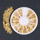 3 Sizes DIY Nail Art Silver Gold 3D Rhinestones Charms Beads Decoration Wheel