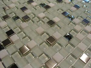 Glasmosaik naturstein marmor fliesen edelstahl mosaik glänzend matt