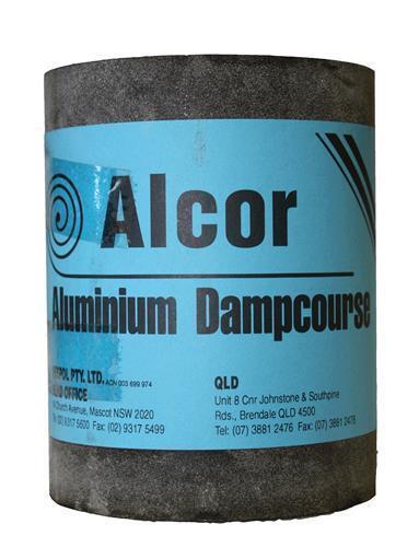 Alproof Super Aluminium Dampcourse Alcor 230mm x 0.45mm x 30M