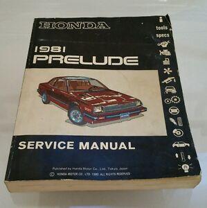 1981-Honda-Prelude-OEM-Service-Repair-Manual-Book
