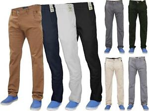 Men-Chinos-Regular-Fit-Jeans-Cotton-Stretch-Casual-Pants-Trousers-All-Waist-Size