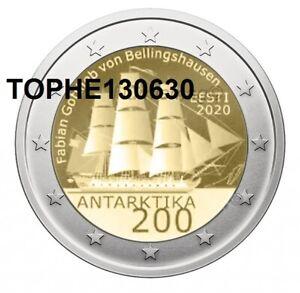 ESTONIE-COMMEMORATIVE-2020-034-ANTARCTIQUE-034-2-EURO-NEUVE-UNC