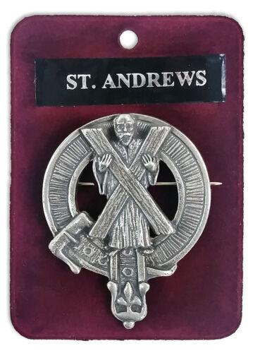 Saint Andrew/'s Cross Cap Badge//Brooch Made In Scotland