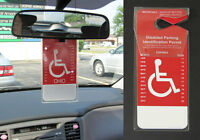 Set Of 2 - Disability Placard Protector -12-ga Handicap Vinyl Hanger Made In Usa