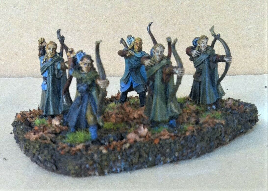 Warhammer, lotr painted. Wood Elf Archers,