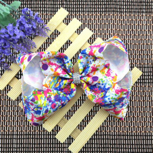 Lovely Big Hair Clip Grosgrain Ribbon Pinwheel Hair Bow Barrette 8 Inches