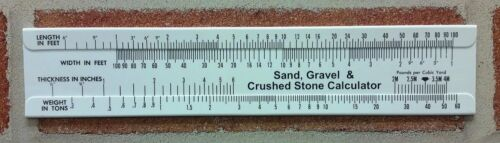 Gravel /& Crushed Stone Calculator Slide Rule Lot of 6pcs-Made In USA!!! Sand