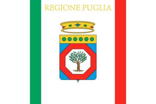 """2x Auto Aufkleber Flagge Italien Region /"""" APULIEN /"""" Fahne Sticker Flag 8 cm"""