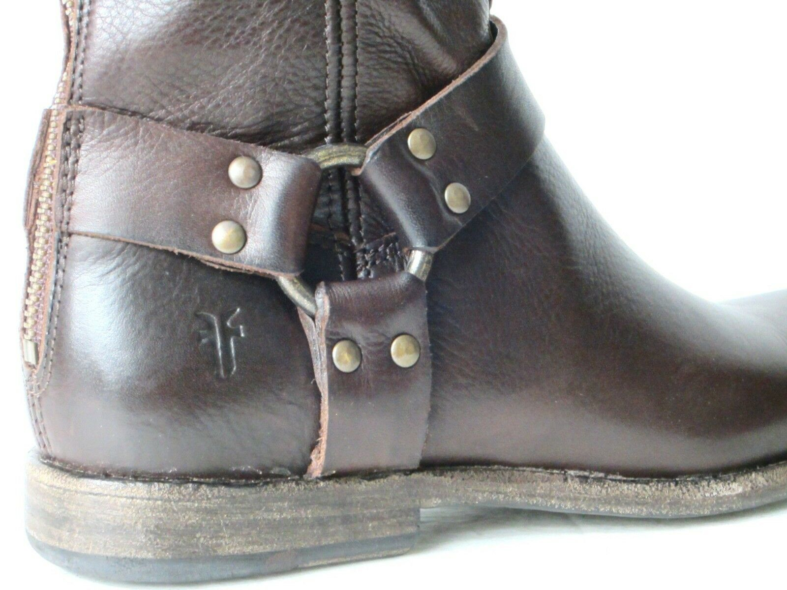FRYE BOOTS Phillip Harness Tall Dark Brown Soft Soft Soft Leather Boots 76850 SZ 6.5  358 5742ab