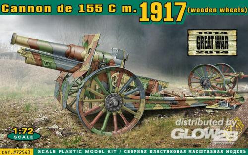 ACE ACE72543 Plastikmodellbau Fahrzeuge Cannon de 155 C m.1917 wooden wheels
