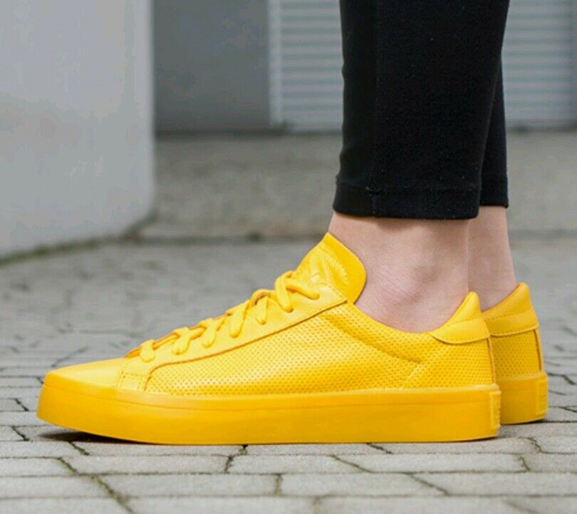 Adidas CourtVantage Adicolour BNIB Größe 8 UK Yellow BNIB Adicolour S80254 Genuine and Authenti a28b3e