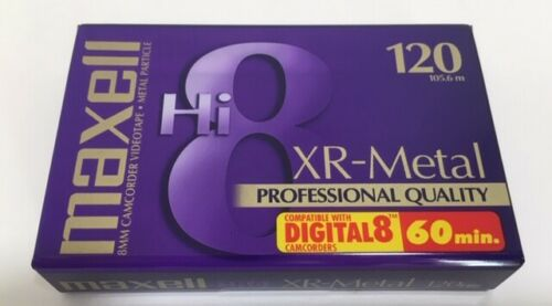 MAXELL Hi 8 Camcorder Tape XR-Metal Professional Quality P6-120
