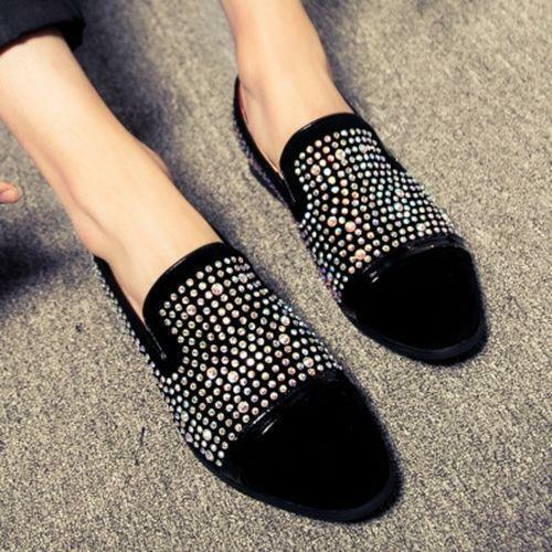 Details about  /New Men/'s Glitter Loafers Bling Bling Rhinestones Driving Formal Pump Shoes R267