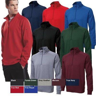 51b60ad13d5 Sport-Tek Men s F247 Fleece Softshell Tech Fleece 1 4-Zip Pullover ...