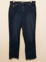 Lee Womens Jeans Size 12 Short (34x28 1/2) Blue Denim Straight Leg Pants