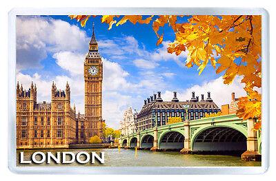 LONDON ENGLAND IN AUTUMN FRIDGE MAGNET SOUVENIR IMAN NEVERA