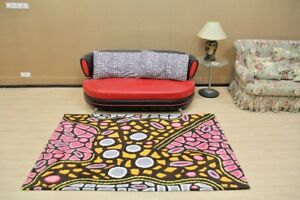Australian Aboriginal Art 100 Acrylic Rug Bush Belt Dreaming 160
