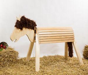 holzpferd voltigierpferd pferd voltigierbock mit bewegllichem kopf ebay. Black Bedroom Furniture Sets. Home Design Ideas