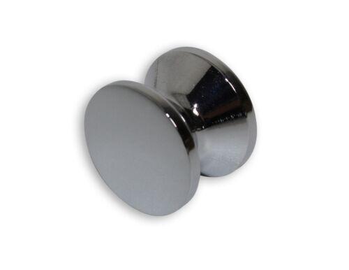 silberfarben Push-Lock Druckknopf massiv 13-19mm