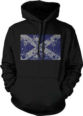Scotland Text Flag Scottish Pride Alba Scots Independence 2-tone Hoodie Pullover