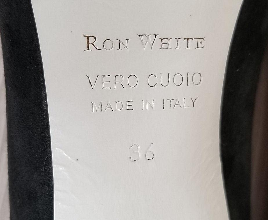 Ron Ron Ron White Cadence Pump, Black Calf Hair, Womens Size 6   36    395 650c4d