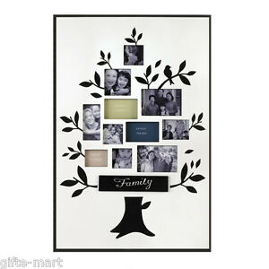 family tree multi photo collage picture frame group scrapbook wall art sculpture ebay. Black Bedroom Furniture Sets. Home Design Ideas
