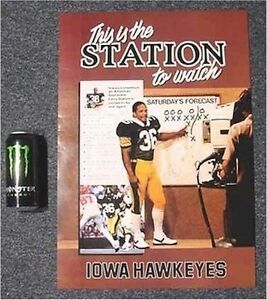 Old Iowa Hawkeyes Lima This Is The Station Larry Station Football Game Poster Ebay