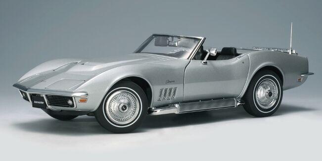 el mas reciente 1969 Chevrolet Corvette Converdeible Cortez Plata 1 18 Autoart Autoart Autoart  71162 Nuevo En Caja  comprar nuevo barato