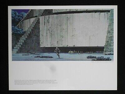 Vintage framed 1977 Star Wars portfolio print by Ralph McQuarrie Original concept art. Rebel Base Yavin