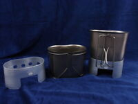 Stainless Steel Canteen Cup And Aluminum Stove Combo Military Gi Style