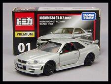 TOMICA PREMIUM 01 NISSAN SKYLINE NISMO R34 GT-R Z-tune 1/62 TOMY DIECAST CAR