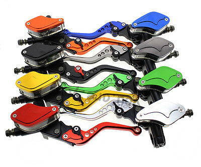 """7/8"""" Universal Master Cylinder Reservoir Hydraulic Brake Clutch Levers Colors"""