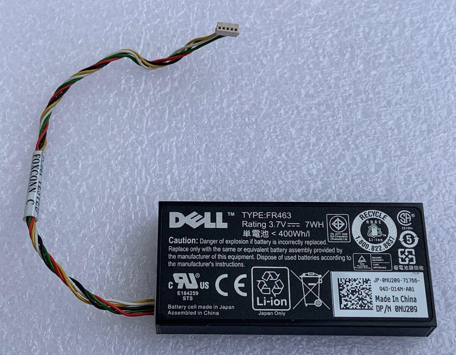 Dell original battery 0fr463 uf302 h2r6m 0xj547 poweredge perc 5i 6i li