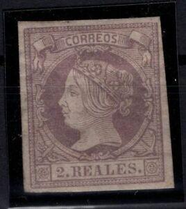 P133223/ SPAIN – ISABELLA II – EDIFIL # 56 MINT MH – CV 560 $