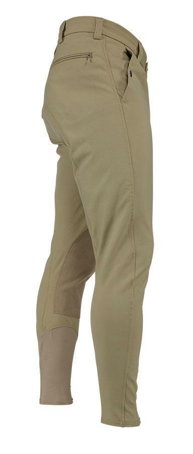 Sheryl, Stratford, pantalones de caballo beige.