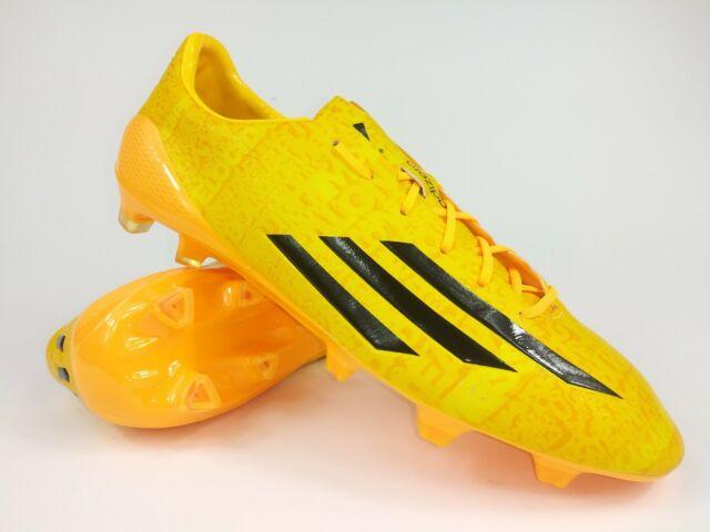 Adidas Mens Rare F50 adizero FG Messi M17681 Yellow Black Soccer Cleats Boots