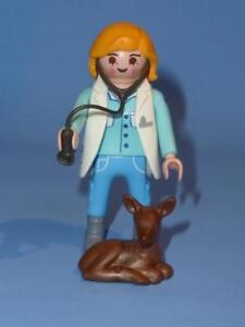 Playmobil-Vet-amp-baby-deer-Fauve-Serie-13-Figure-Feminine-nouvelle-version-9333